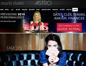 Astrologie sur Marie Claire